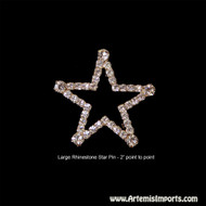"Belly Dance Star Brooches (Pin) - Large 2"" point to point"