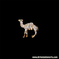 Adorable Camel Rhinestone Brooch (Pin)