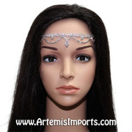 Belly Dance Deluxe Rhinestone Crystal Head Piece