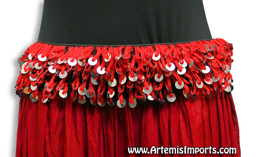 Mozuna Hip Belt - Belly Dance in Red