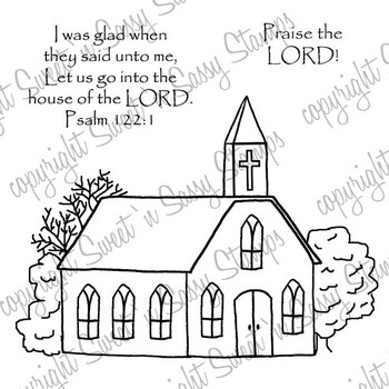 Country Church Digital Stamp Sweet N Sassy Stamps