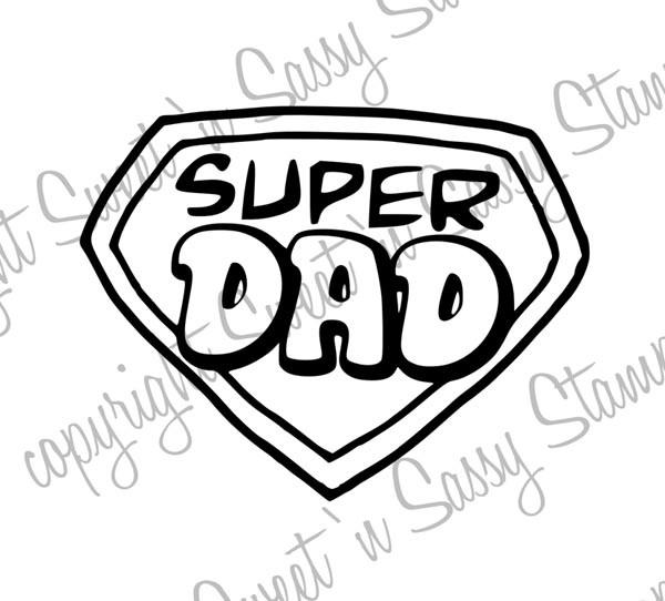 Super Dad Symbol Digi Stamp - Sweet 'n Sassy Stamps