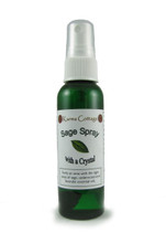 A lovely combination of Sage, Lavender and cedarwood. This spray holds something extra special, a tourmaline crystal and full moon blessings. Use this spray to clean away negative energy.  2- ounce, TSA safe bottle.