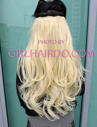 005w Light Blonde Full pc Hair Extensions (Premium)