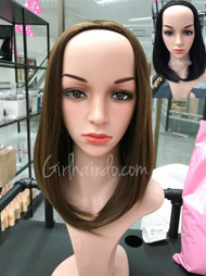 #5018 non shiny very natural half wig