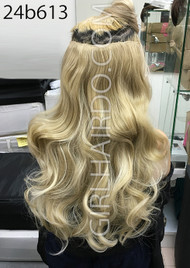 #24b613 blonde hair extensions