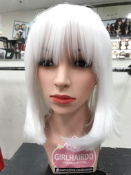 Neon White bob wig good quality (heat friendly)