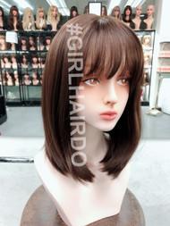 G61196 shoulder length natural skin wig