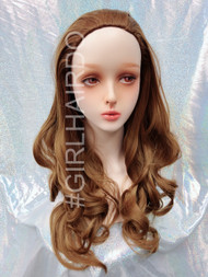 H9072/27 light golden brown Long Japanese partial wig soft curls