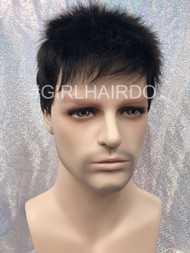 Short army boy style men wig