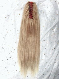 P6060 brownish BLONDE straight rebonded thick ponytail claw high pony