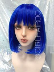 P7809 Electric Blue Bob Wig
