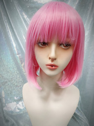 Baby pink bob wig