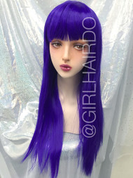 Party wig purple Long Colour wig