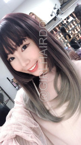 SW36M JAPANESE STYLE OMBRE SILVER SKIN WIG