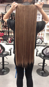 super long ash brown #8/27 long straight hair extensions