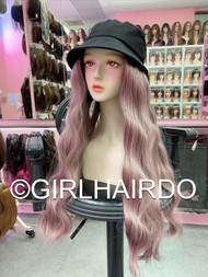 HAT WITH HAIR PINK SUPER NICE