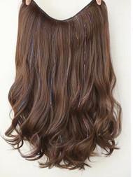 53CM LONG MOCHA BROWN HAIR EXTENSIONS GLIT