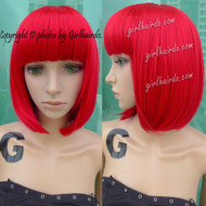 BEST QUALITY COLOUR BOB [Premium Fibre] Red Bob Wig