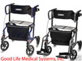 GFLX1000-T Graham Field HybridLX Rollator Transport Chair-300lbCap