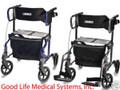 GFLX1000-T Graham Field HybridLX Rollator Transport Chair-300lbCap