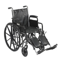 "Silver Sport 2 Wheelchair 18"" Seat, Swingaway Elevating Legrests (DR SSP218DDA-ELR)"