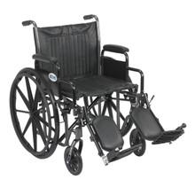 "Drive Medical Silver Sport 2 Wheelchair,20""Seat,Detachable DeskArm,Elevating Legrest, SSP220DDA-ELR"