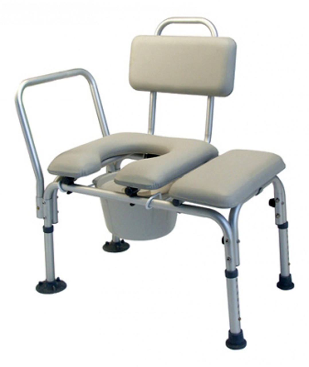 Graham Field Transfer Bench Bath Seat Commode with Swing Arm for Safety