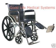 GF 3E010210 Traveler SE Wheelchair Fixed Full Arm Elevating Legrest 250 lb Weight Capacity