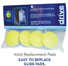 For Walkers: Replacement Glide Pads for Tennis Ball Glides, Includes 4 per package