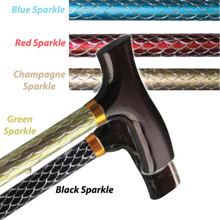 Sparkle Line of Folding Cane, In colors Red, Champagne, Green, Black or Blue