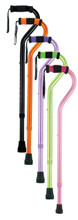 Offset Aluminum Canes in Pink, Purple, Black, Orange, and Green
