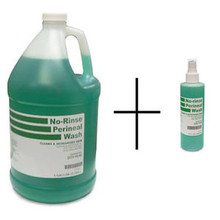 Perineal Wash Liquid, No Rinse, 8 oz. Spray + 1 Gallon Bottle