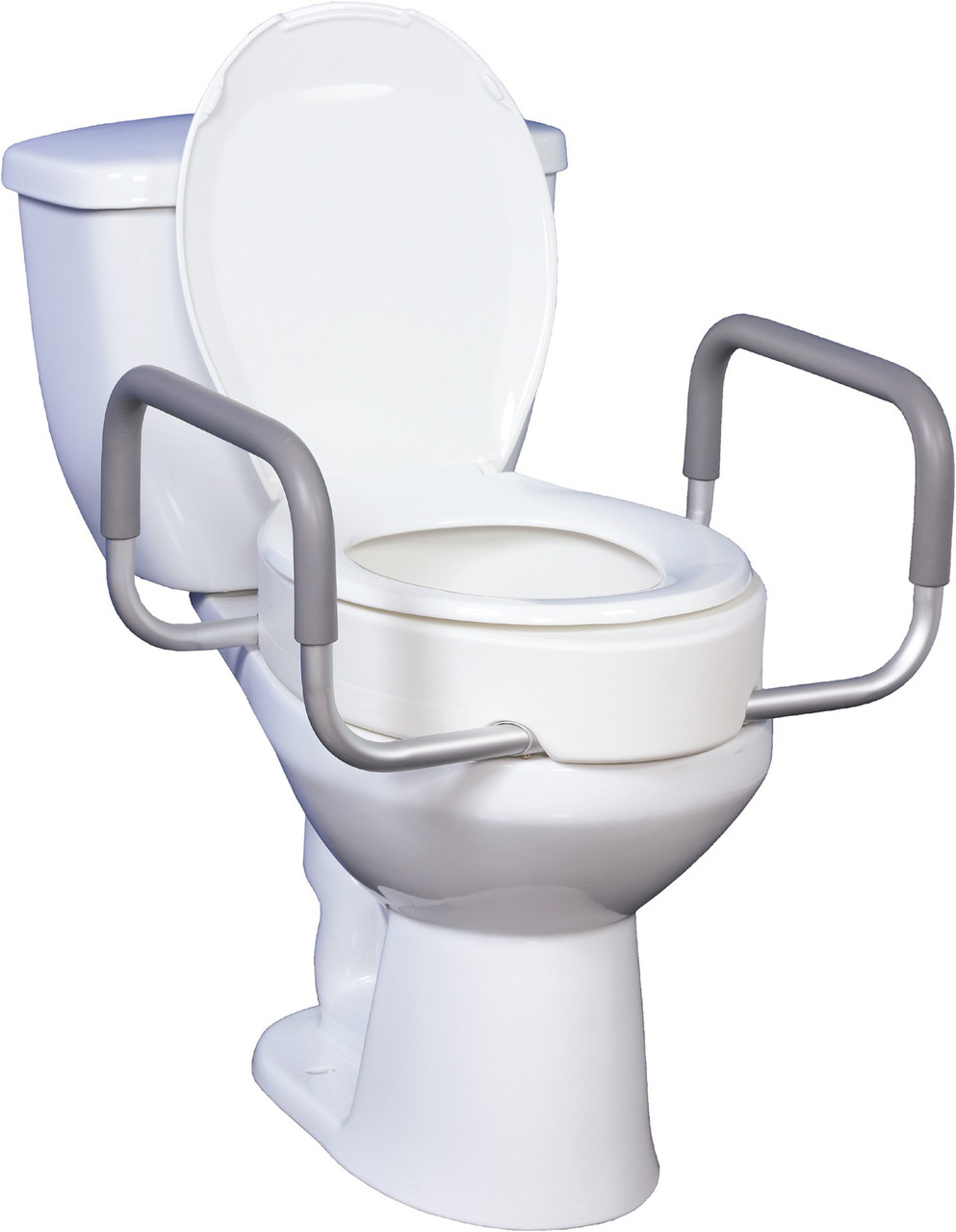 Phenomenal For Elongated Toilets Premium Toilet Seat With Removable Arms Dailytribune Chair Design For Home Dailytribuneorg