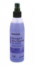 McKesson 48 Spray Bottles of Perineal Wash Liquid, No Rinse, 8oz. Bottles, 80311800  53-28013-8