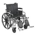 "Drive Sentra Heavy Duty Extra Wide Wheelchair, 20"" wide seat, elevating legrests, detachable desk arms"