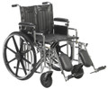 "Sentra HD Wheelchair with 20"" wide seat, Adjustable detachable arm rests, and elevating legrests"