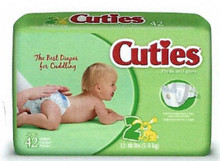 Cuties Baby Diapers, size 2, 12 to 18 lbs., Heavy Absorbency CR2001