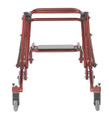 Front View Red Nimbo walker with seat