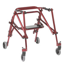 KA3200s-2GCR Nimbo walker with seat, in red