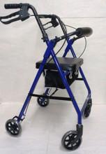Alex 4 Wheel Rollator Walker P5024-BL Blue