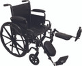 "ProBasics K2 Manual Wheelchair, 18"" Wide Seat, ELRs, Flip-Back Padded Arms"