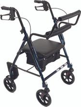 ProBasics RLATBL Blue rollator/ transport chair, convertible