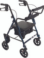 ProBasics RLATBL Blue rollator/ transport chair, convertible