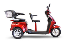 EWheels EW-66 Red Two Seater Scooter