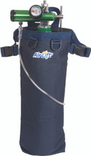 Airlift 42N Wheelchair Oxygen Tank Carrier for D, C, M9, and M6 size tanks, Front view