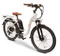 EW-Step Thru Low-Step Frame E-Bike, White