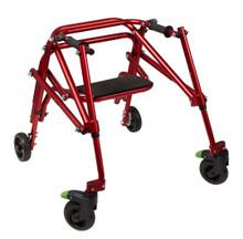 Klip 4 wheel posterior walker with seat, KP520R