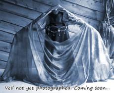 5mm Ultralight 3 yard Silk Belly Dance Veil, in FOG