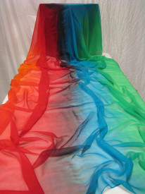 5mm Ultralight 3 yard Silk Belly Dance Veil, in FAIRY MAGICK